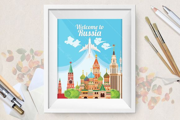 Welcome to Russia travel poster  @creativework247