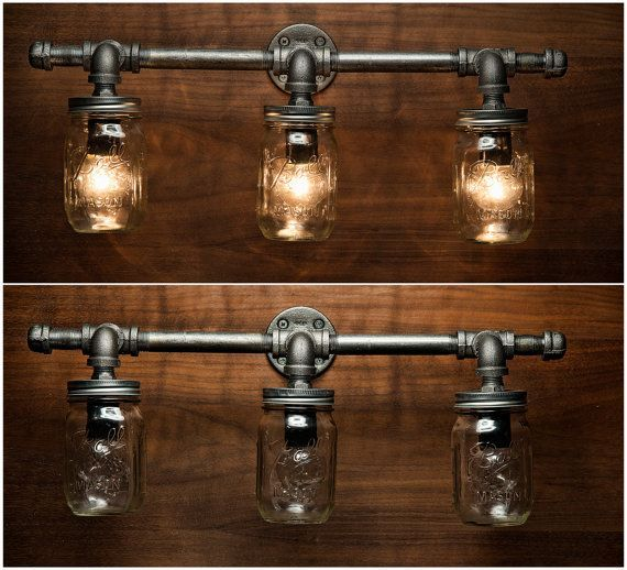 14 Light Diy Mason Jar Chandelier Rustic Cedar Rustic Wood: Image Result For Diy Mason Jar Light With Iron Pipe