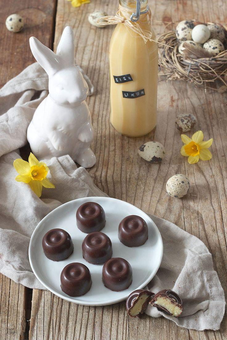 Eierlikörpralinen Rezept - Selbst gemachte Eierlikör Pralinen für Ostern. Perfekt als Geschenk aus der Küche. // homemade egg liqueur chocolate // Sweets & Lifestyle®️️️️