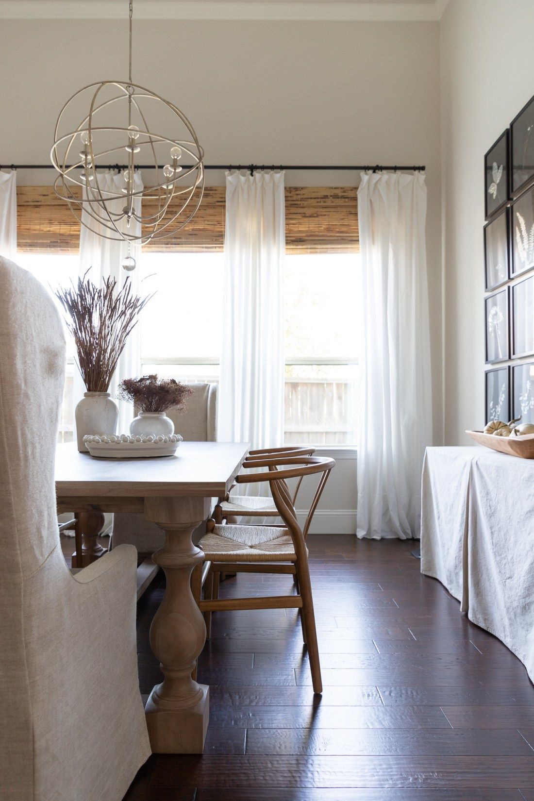 Late Fall Home Tour Crazy Wonderful Restoration Hardware Dining Room Dining Room Curtains Restoration Hardware Dining Chairs