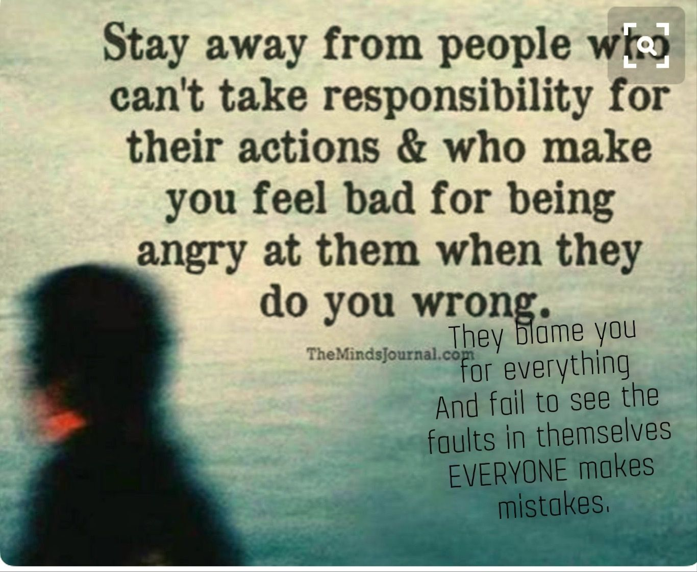 Some people will never take responsibility for their action. Even if you point it out to them ...
