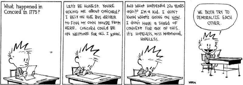 Another irrelevant exam, another awesome answer! | Calvin
