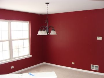 This Is A Dining Room In Crystal Lake, Illinois We Painted In The Color  Radish