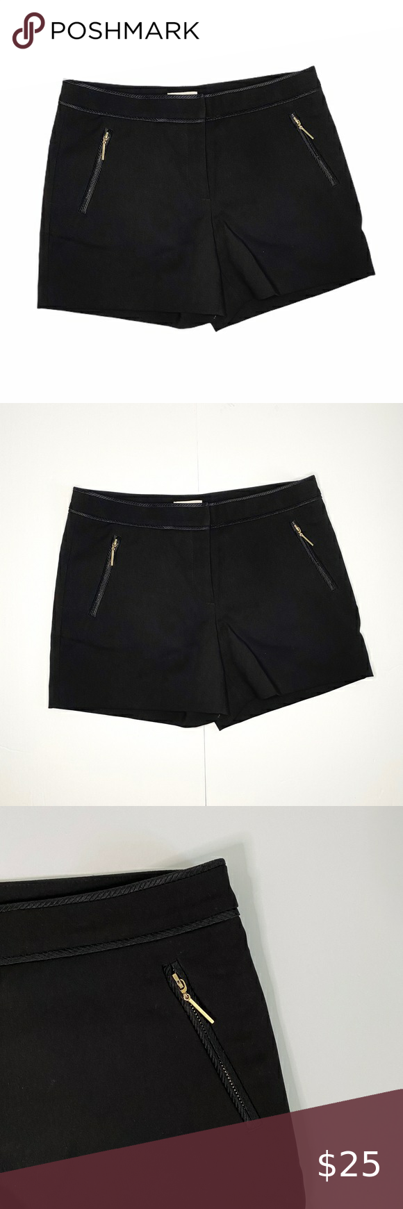 H M Black Zipper Pocket Polyester Dress Short Short Dresses Polyester Dress Black Short Dress [ 1740 x 580 Pixel ]