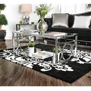 Shop For Furniture Of America Mishie Contemporary Glass Top Coffee Table Get Free Shipping At
