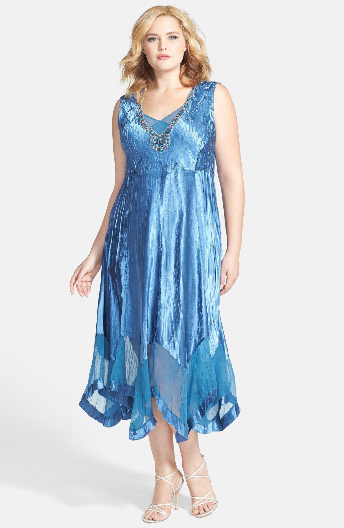 7d3acbe62ac Komarov Embellished Chiffon   Charmeuse Dress with Jacket (Plus Size ...