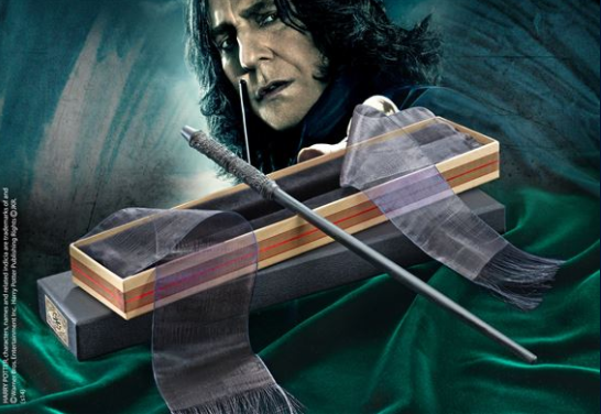 Snapes Zauberstab - Info aus dem Buch: Der Zauberstab von Severus Snape ist aus Ebenholz, hat eine Phönixschwanzfeder als Kernmaterial und eine Länge von 34cm (ungefähr 13 1/4 Zoll). #geschenkidee #geschenk #gift #idea #harry #potter #harrypotter