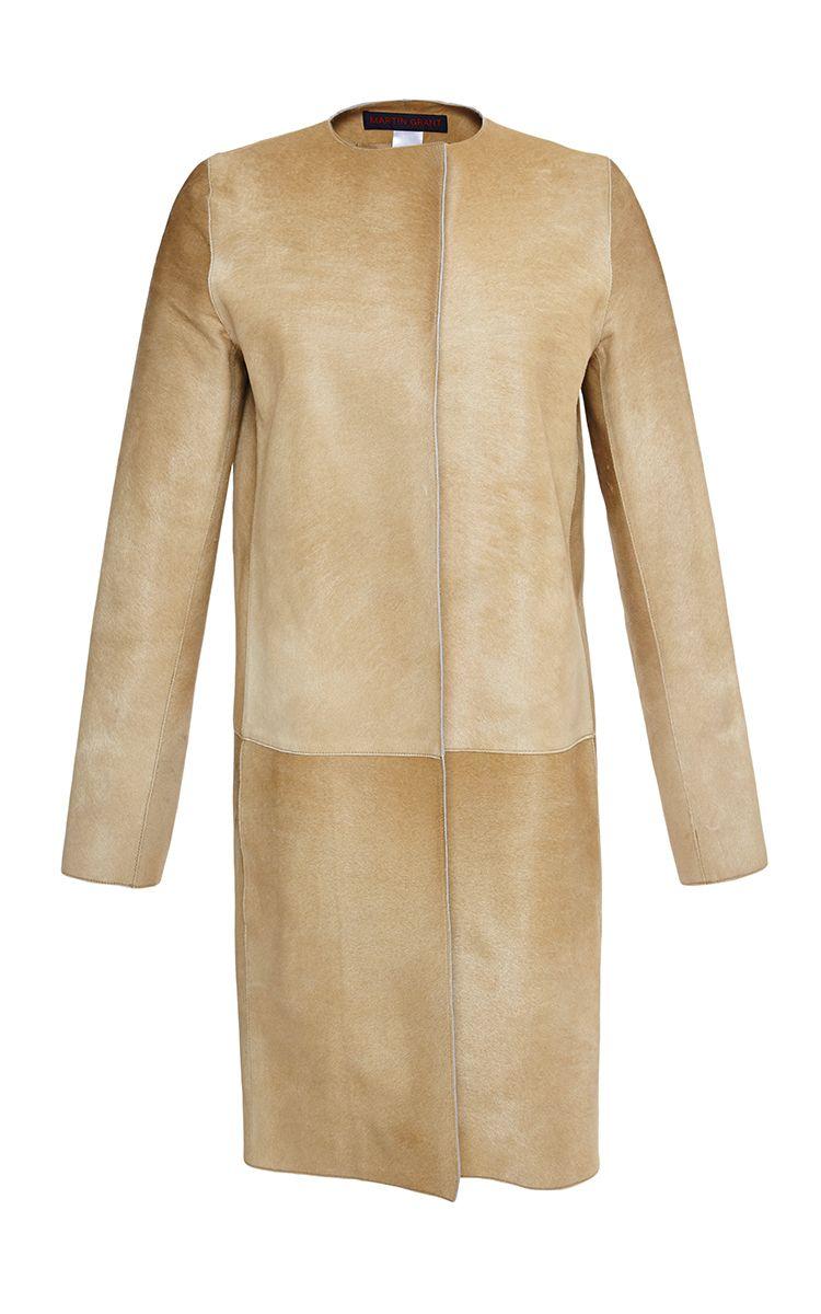 Straight Cut Coat by Martin Grant for Preorder on Moda Operandi