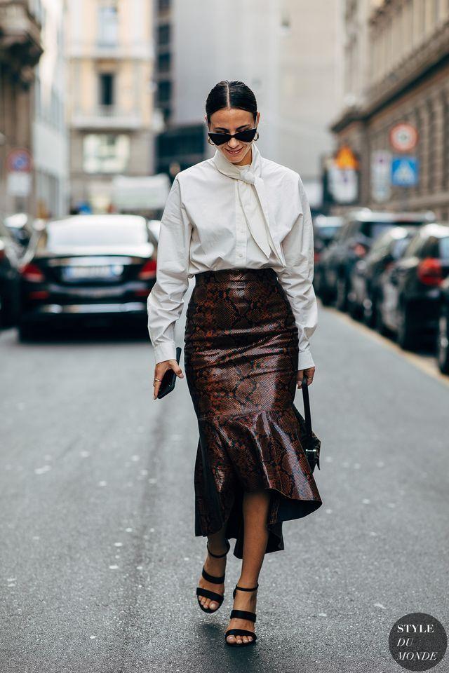 Milan SS 2019 Street Style: Zina Charkoplia (STYLE DU MONDE)