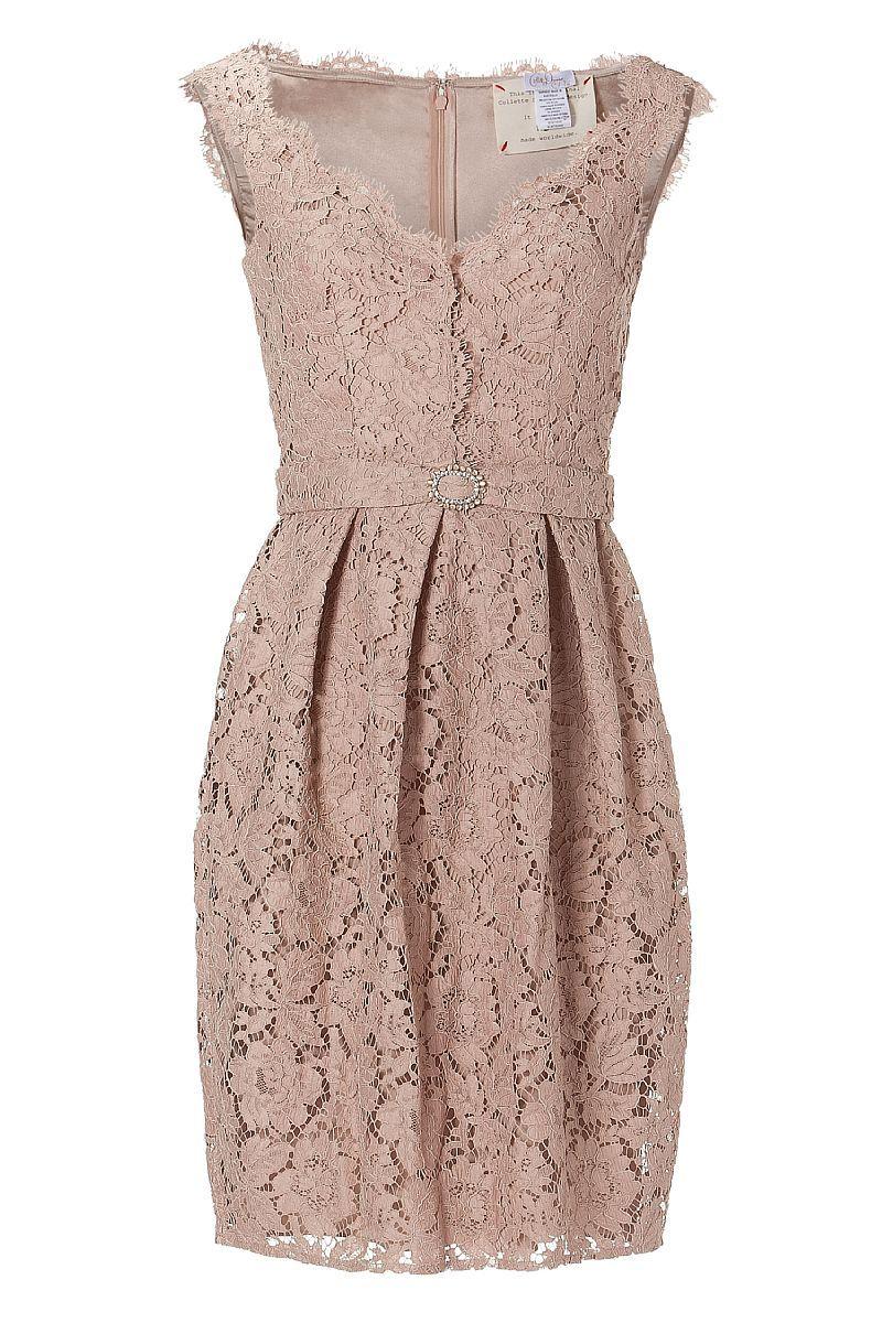 Collette Dinnigan Peach Sleeveless French Garden Lace Dress $2005