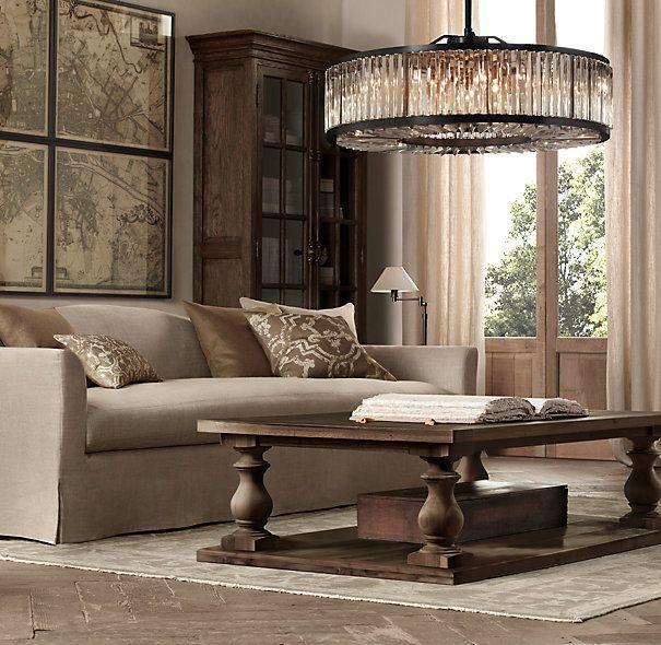Welles Clear Crystal Round Chandelier 43 Restoration Hardware Living Room Living Room Inspiration Rh Living Room