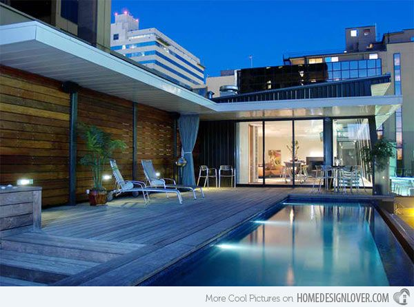 15 stunning and relaxing rooftop pools landscape for Rooftop pool design