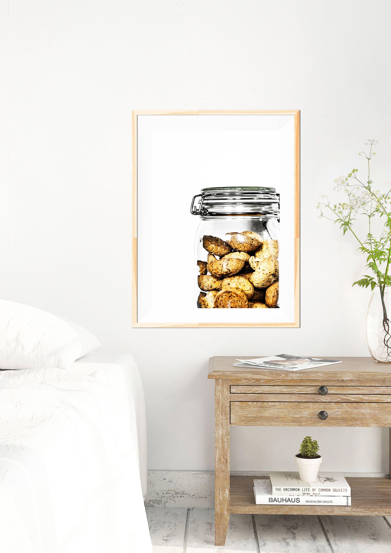 Biscotti minimalist print kitchen print kitchen wall art