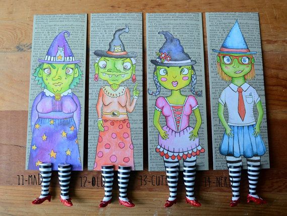 Wicked Witch Bookmark Ruby Slippers Bookmark by kiranichols