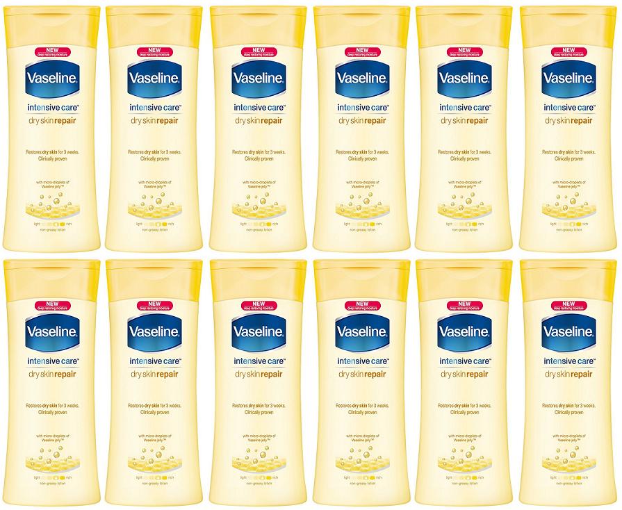 Vaseline Intensive Care Dry Skin Repair Body Lotion 400ml Pack Of 12 400ml Body Care Dry Intensive Lotion In 2020 Dry Skin Repair Skin Repair Healing Dry Skin