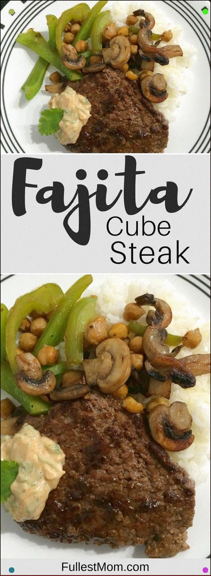 This Fajita Cube Steak Recipe Is Melt In Your Mouth Tender And Uses It's Own Diy Fajita Seasoning. Avoid The Packaging. You've Got All The Spices You Need For An Easy And Quick Dinner. #beeffajitarecipe