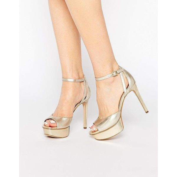 Kayde Sam Metallic Sandals£93 Two Edelman Part Platform Heeled 0X8ONnPwk