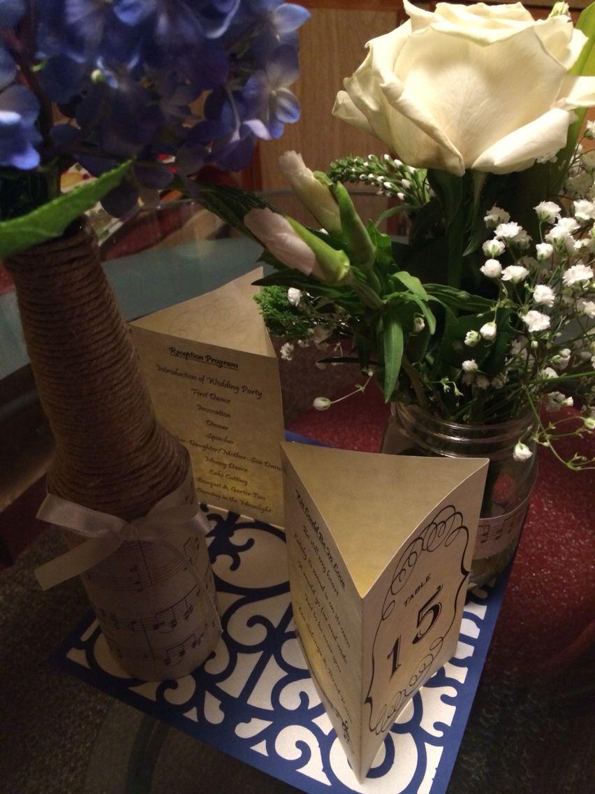 Janice u Aldrinus Blue u Cream Music Themed Wedding Centerpieces
