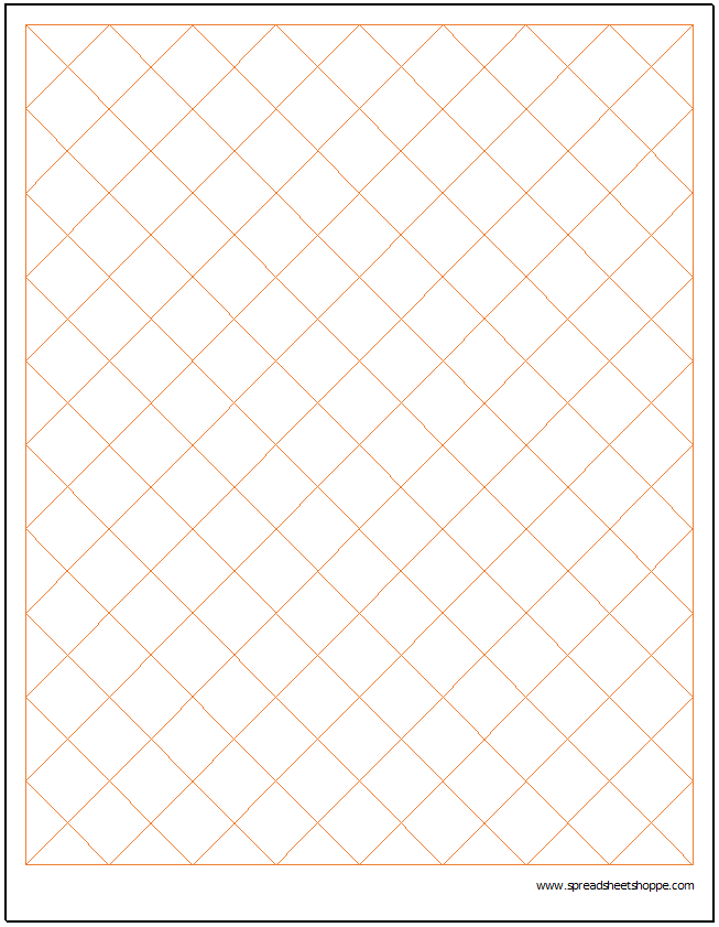 Diamond Graph Paper Template  Charts  Graphs    Graph