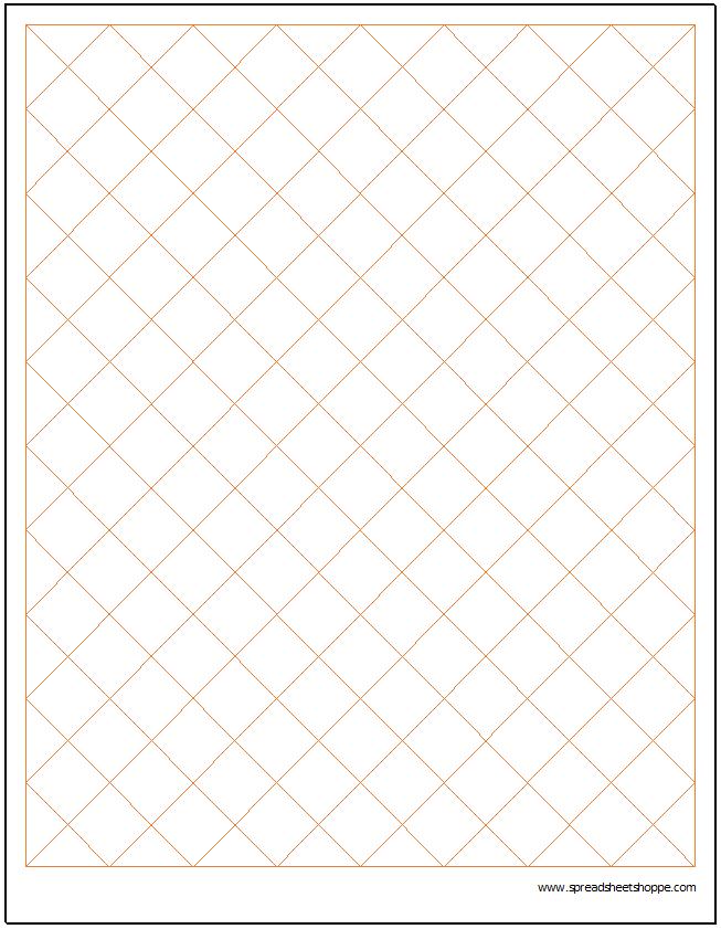 diamond graph paper printable - Keni.candlecomfortzone.com
