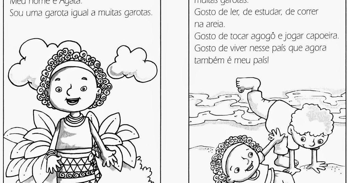 Consciencia Negra Texto Para Colorir Menina De Angola Livros De