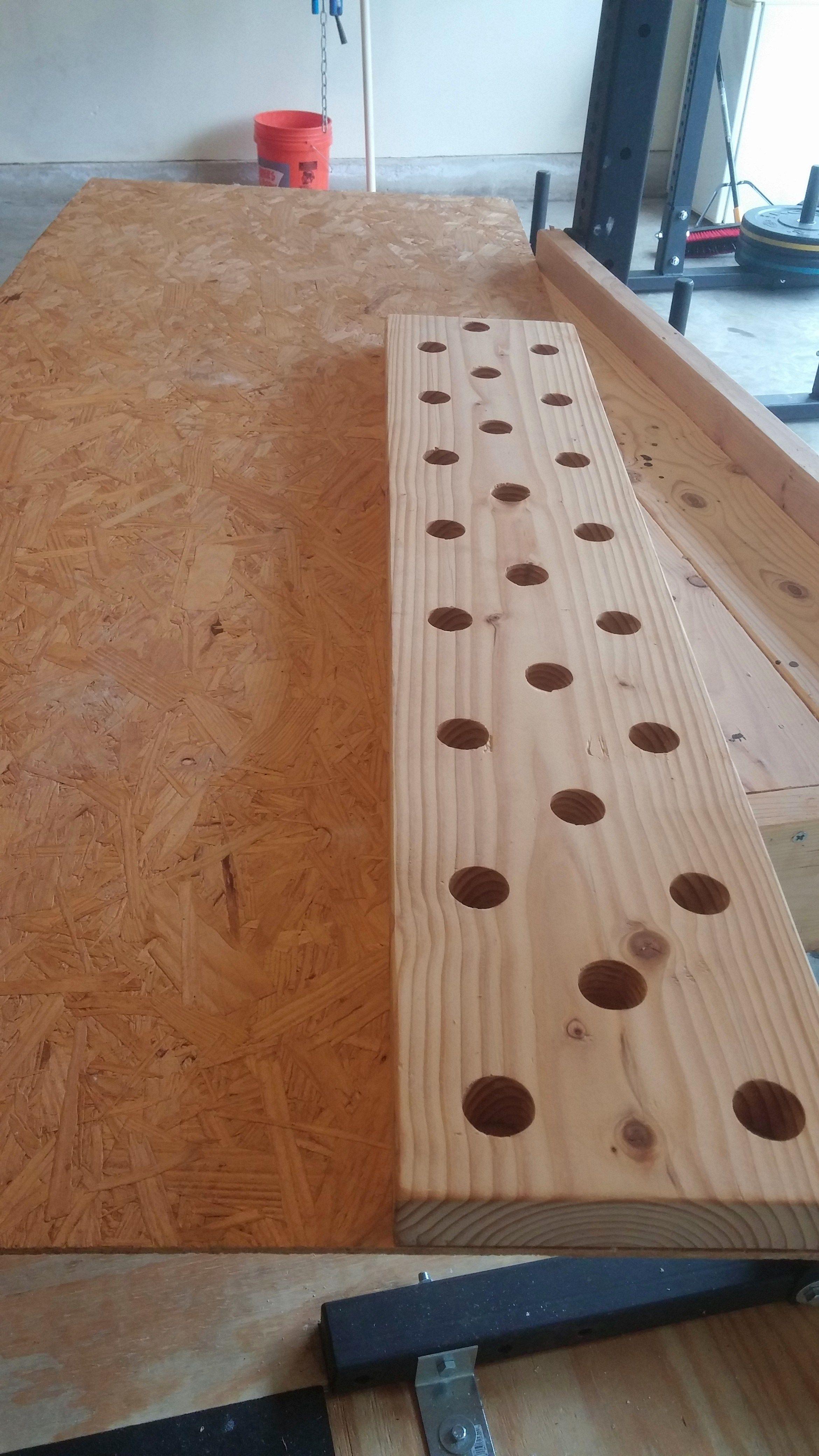 Diy climbing peg board crossfit garage gym crossfit garage