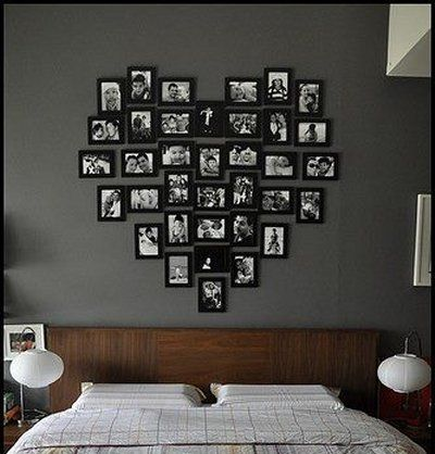 Wall Decor Picture Frames In A Heart Shape Nice
