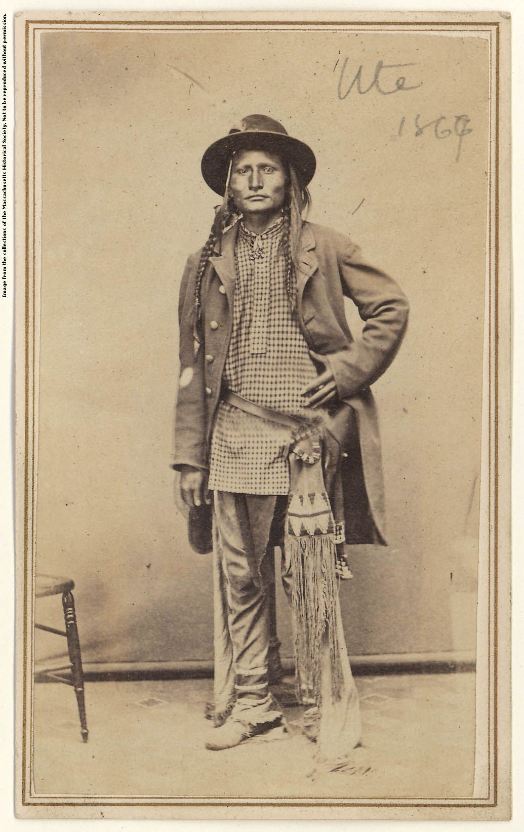 Ute Man Carte De Visite By C F Alter 1867