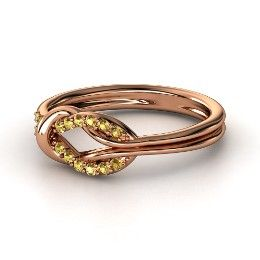 Citrine & Rose Gold Ring I want to find something just like this with citrine and peridot for the kids birthstones