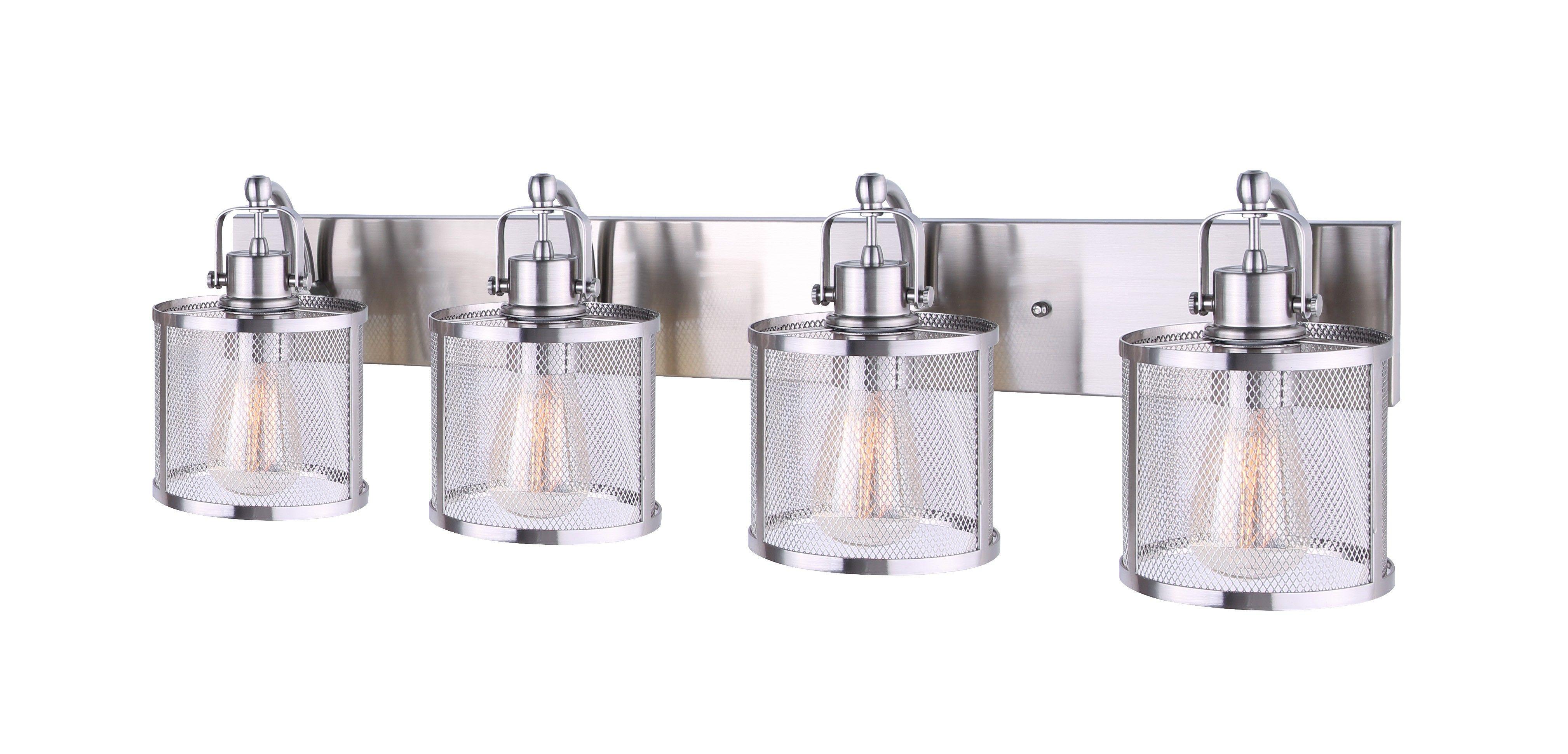 Canarm Ivl626a04bn Beckett 4 Light Vanity Brushed Nickel Brushed Nickel Vanity Lighting Vanity Light Fixtures