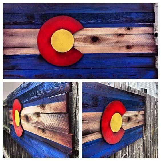 Wooden Colorado Flag Wall Art Etsy Colorado Flag Art Wooden Flag Colorado Art