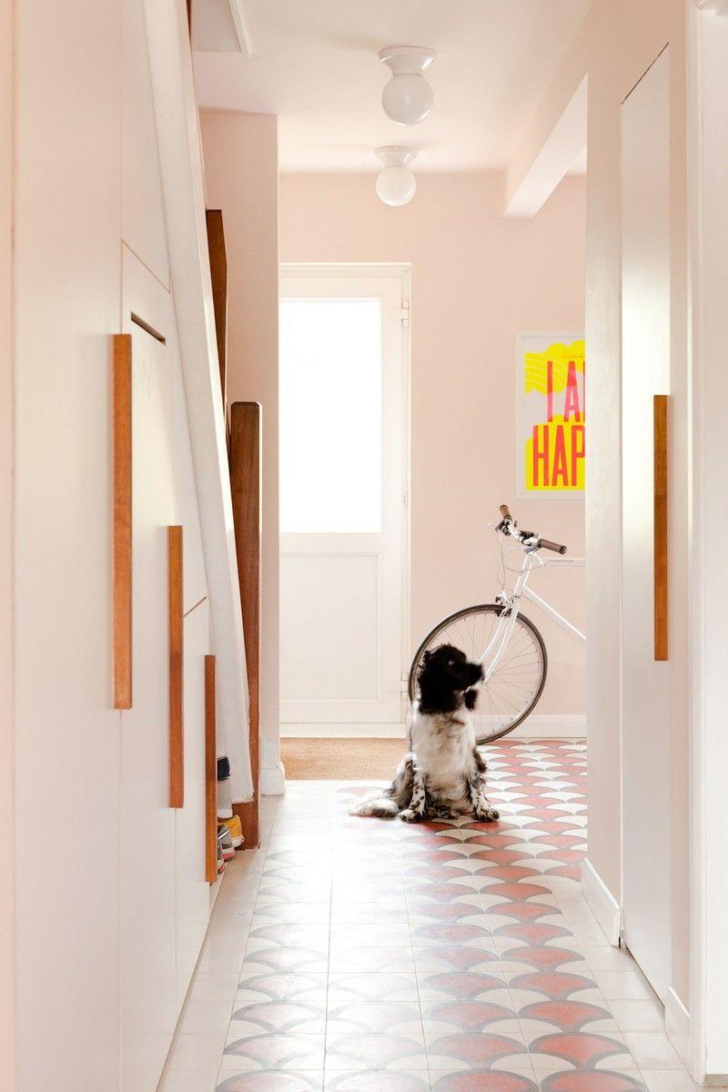 Couleur Peinture Carrelage Sol peinture couloir et entrée - 57 idées pour réussir la déco