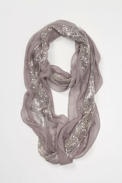 sparkles + scarf