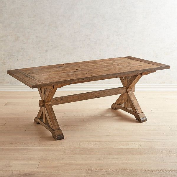 Pier 1 Imports Maxwell 78 Dining Table In Vintage 800 Liked On Polyvore Featuring Home Furniture Tabl Dining Table Brown Dining Table Dining Room Table