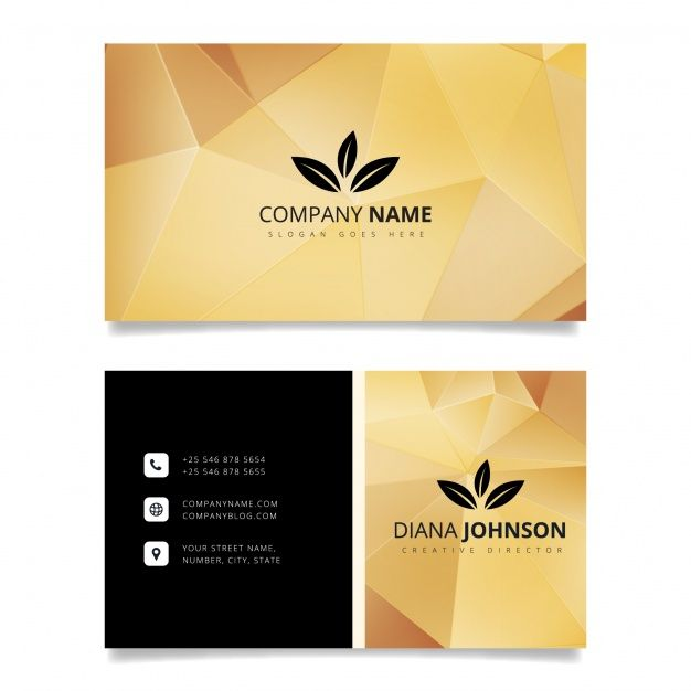 Luxury business card design free vector visiting card pinterest luxury business card design free vector reheart Image collections