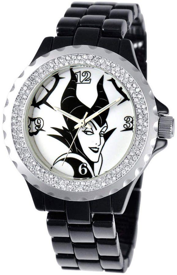 Disney Maleficent Women S Alloy Enamel Spark Watch Black