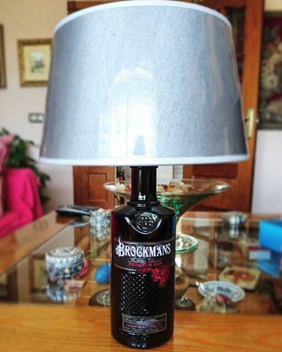 Lampara De Botella De Ginebra Brockmans Lamparas Con Botellas