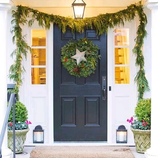Add Shimmer and Sparkle to Christmas Door Decorations Christmas