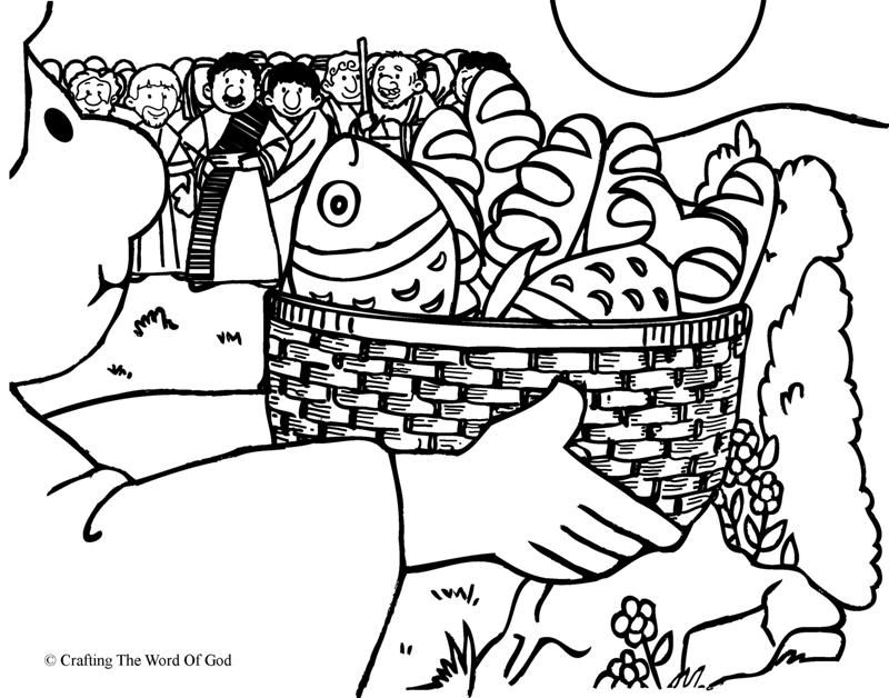 Feeding The Multitude (Coloring Page) Coloring pages are a great way ...