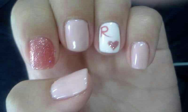 My Nails Ring Finger With My Boyfriends Name Letter Nails Nail Designs Nail Decorations