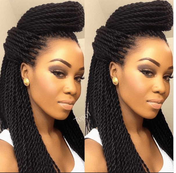29 Senegalese Twist Hairstyles for Black Women  Twisted bun