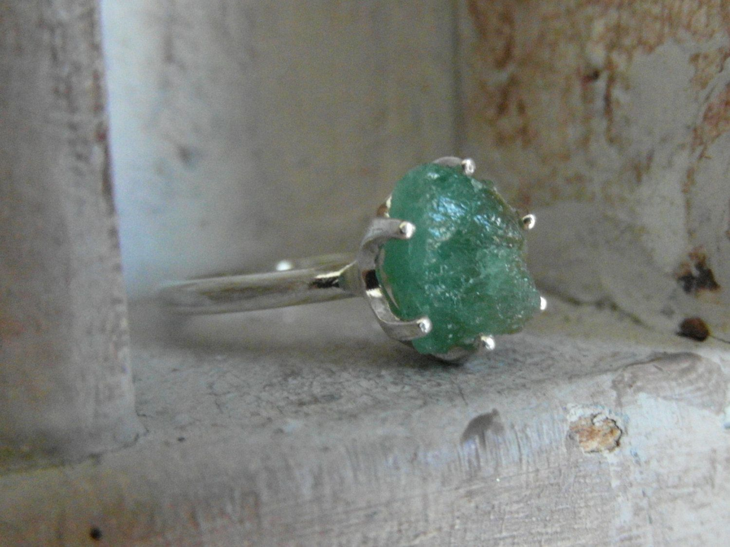Colombian Emerald Tiffany style promise engagement by EnzoLuccati, $250.00