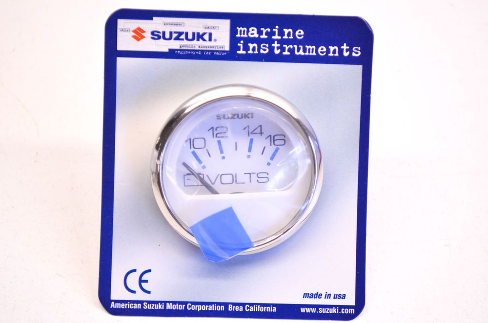 New OEM Suzuki 2\'\' White Volt Meter Kit NOS | eBay Motors, Parts ...