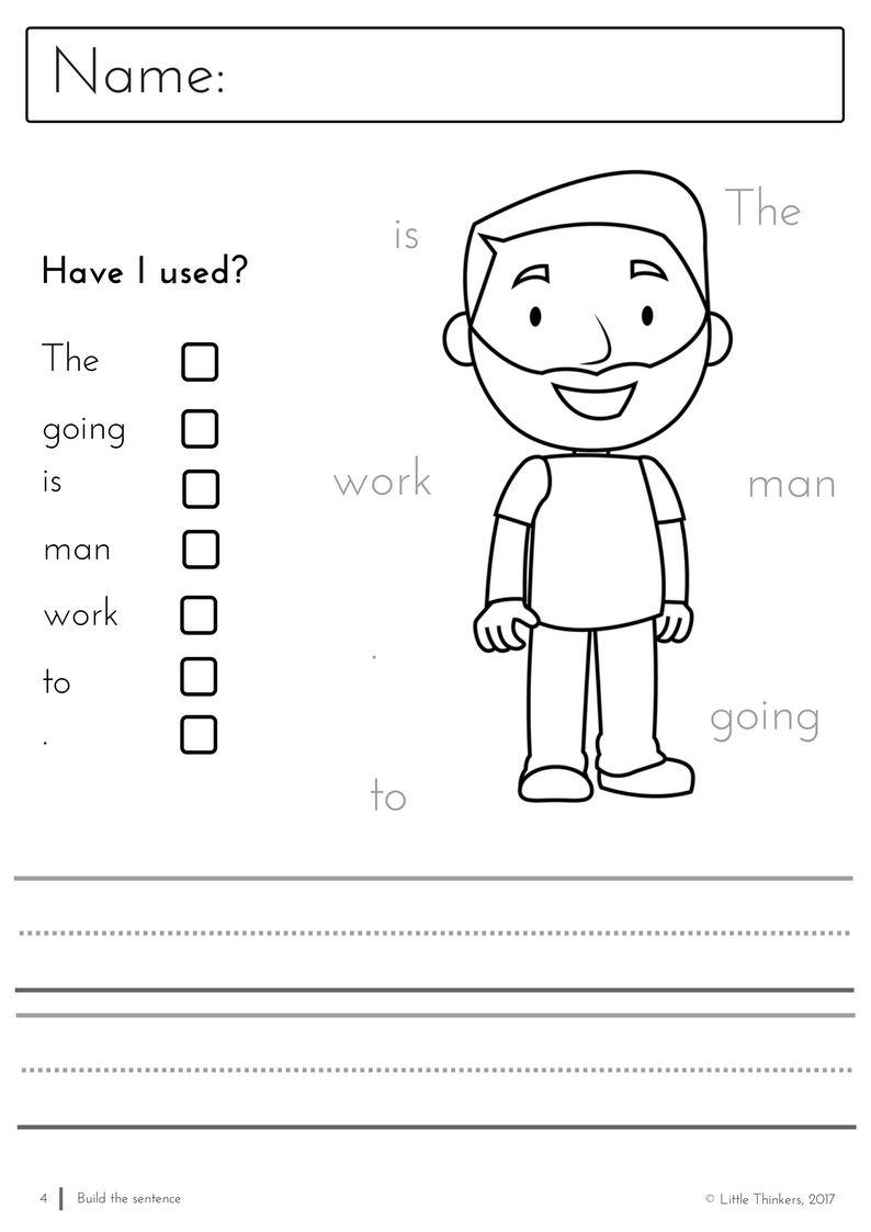 Build A Sentence - Activity Pages | Sentences and Activities