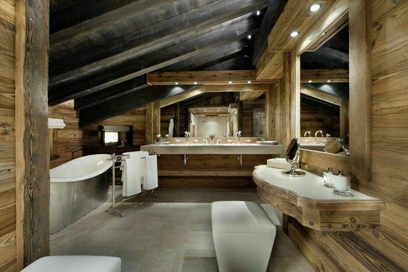 Rustikalen Badezimmer, Master Badezimmer, Französisch Alpen, Chalets,  Courchevel 1850, Rote Scheunen, Badewannen, Beautiful Bathrooms, Masters