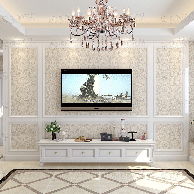 Tv Background Wall Border Line Frame Di 2020 Desain Rumah Desain Rumah #wall #borders #for #living #room