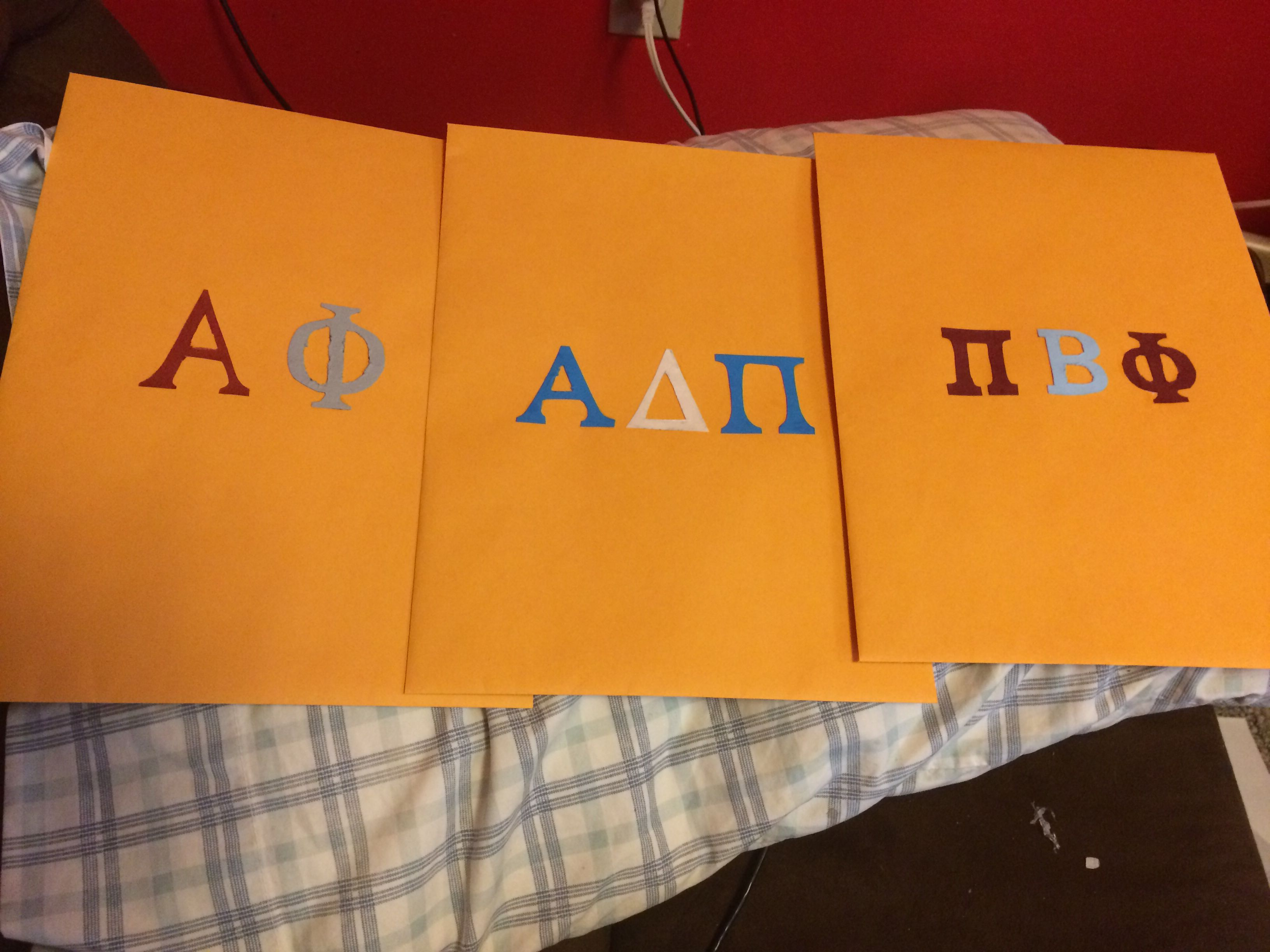Decorated Recommendation Packets For Sorority Rush  Crafts