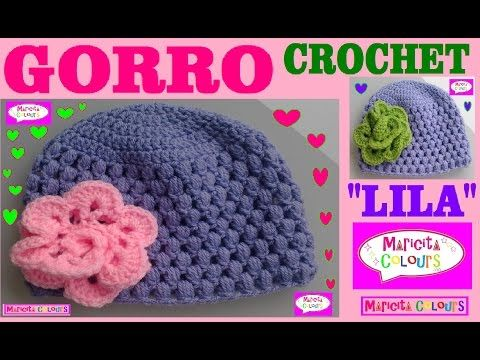GORRO Bebé Punto Puff Tutorial Crochet \