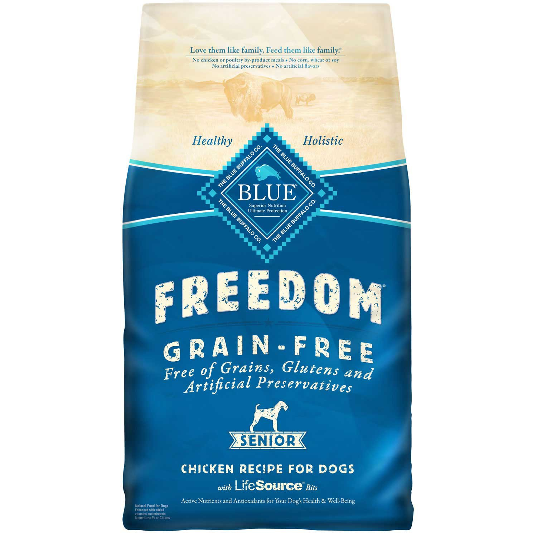 Blue Buffalo Freedom Grain Free Chicken Recipe Senior Dog Food 11