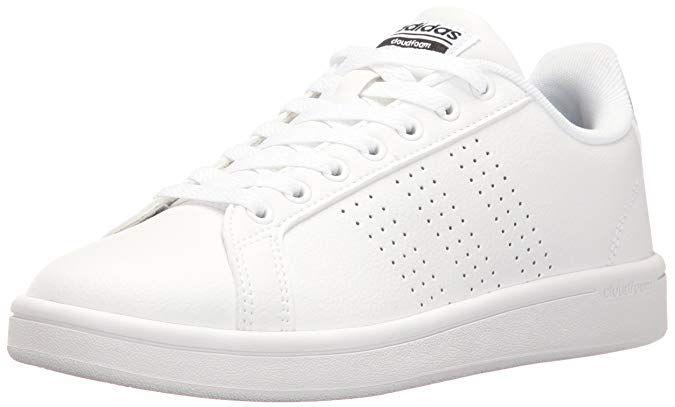 adidas Women's Shoes Cloudfoam Advantage Clean Sneakers white ...